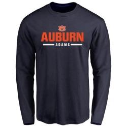 Men's Montravius Adams Auburn Tigers Sport Wordmark Long Sleeve T-Shirt - Navy