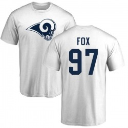 Men's Morgan Fox Los Angeles Rams Name & Number Logo T-Shirt - White