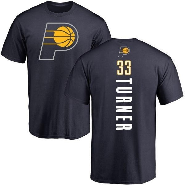 Men's Myles Turner Indiana Pacers Navy Backer T-Shirt