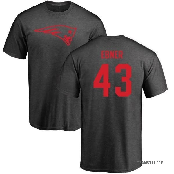 new concept ca2aa 113c2 Men's Nate Ebner New England Patriots One Color T-Shirt - Ash - Teams Tee