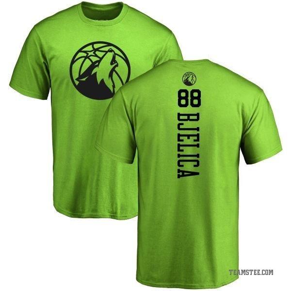 watch dfa43 ee5c6 Men's Nemanja Bjelica Minnesota Timberwolves Neon Green One Color Backer  T-Shirt - Teams Tee