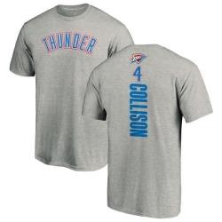 Men's Nick Collison Oklahoma City Thunder Ash Backer T-Shirt