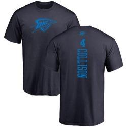 Men's Nick Collison Oklahoma City Thunder Navy One Color Backer T-Shirt