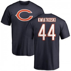Men's Nick Kwiatkoski Chicago Bears Name & Number Logo T-Shirt - Navy