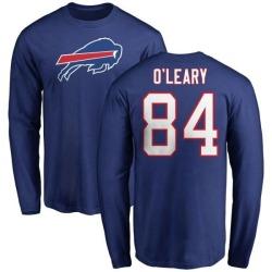 Men's Nick O'Leary Buffalo Bills Name & Number Logo Long Sleeve T-Shirt - Royal