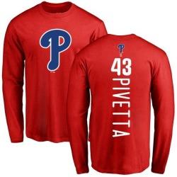 Men's Nick Pivetta Philadelphia Phillies Backer Long Sleeve T-Shirt - Red