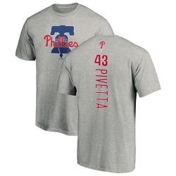 Men's Nick Pivetta Philadelphia Phillies Backer T-Shirt - Ash