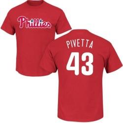 Men's Nick Pivetta Philadelphia Phillies Roster Name & Number T-Shirt - Red