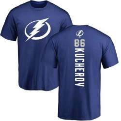 Men's Nikita Kucherov Tampa Bay Lightning Backer T-Shirt - Royal