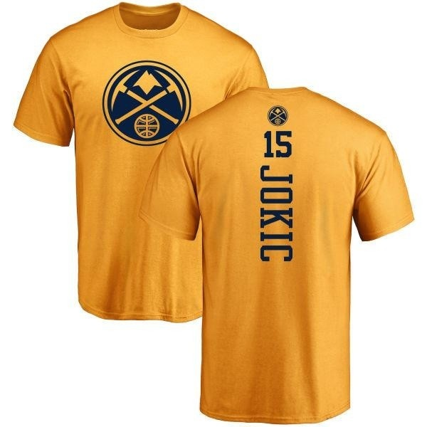 the latest 0bf6e 2ec54 Men's Nikola Jokic Denver Nuggets Gold One Color Backer T-Shirt - Teams Tee