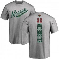 Men's Nino Niederreiter Minnesota Wild Backer T-Shirt - Ash