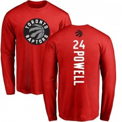 Men's Norman Powell Toronto Raptors Red Backer Long Sleeve T-Shirt