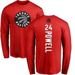Men's Norman Powell Toronto Raptors Red Backer Long Sleeve T-Shirt