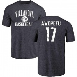 Men's Nowooola Awopetu Villanova Wildcats Distressed Basketball Tri-Blend T-Shirt - Navy