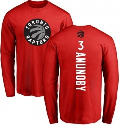 Men's OG Anunoby Toronto Raptors Red Backer Long Sleeve T-Shirt