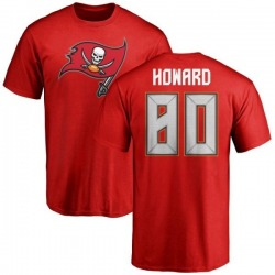 Men's O.J. Howard Tampa Bay Buccaneers Name & Number Logo T-Shirt - Red