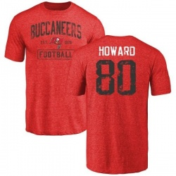 Men's O.J. Howard Tampa Bay Buccaneers Red Distressed Name & Number Tri-Blend T-Shirt