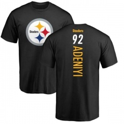 Men's Olasunkanmi Adeniyi Pittsburgh Steelers Backer T-Shirt - Black
