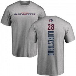 Men's Oliver Bjorkstrand Columbus Blue Jackets Backer T-Shirt - Ash