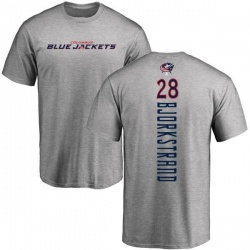 Men's Oliver Bjorkstrand Columbus Blue Jackets Backer T-Shirt - Ash