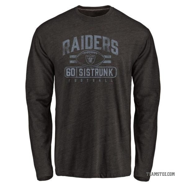 online store 262a4 a9477 Men's Otis Sistrunk Oakland Raiders Flanker Tri-Blend Long Sleeve T-Shirt -  Black - Teams Tee