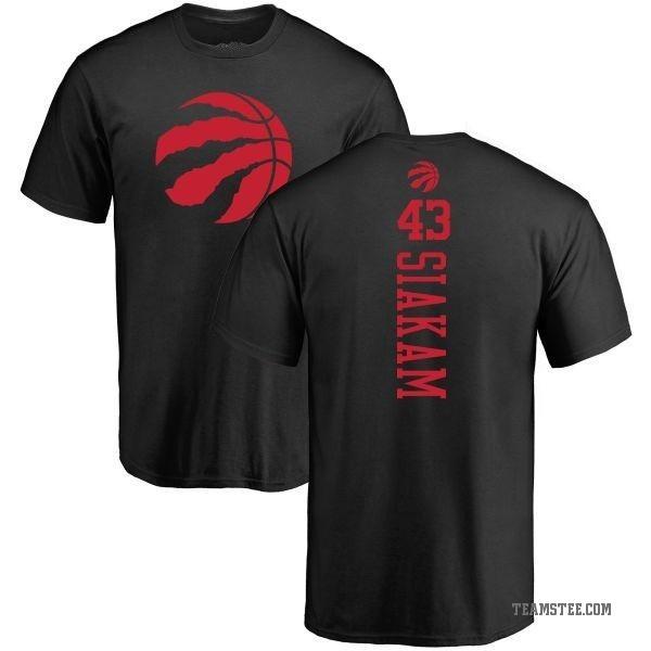 new arrival 63ca4 dcda9 Men's Pascal Siakam Toronto Raptors Black One Color Backer T-Shirt - Teams  Tee