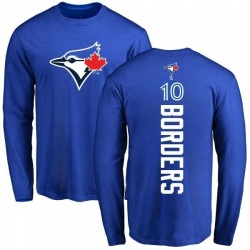 Men's Pat Borders Toronto Blue Jays Backer Long Sleeve T-Shirt - Royal