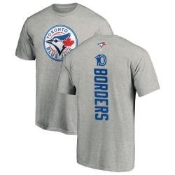 Men's Pat Borders Toronto Blue Jays Backer T-Shirt - Ash