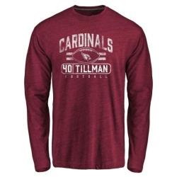 Men's Pat Tillman Arizona Cardinals Flanker Tri-Blend Long Sleeve T-Shirt - Garnet
