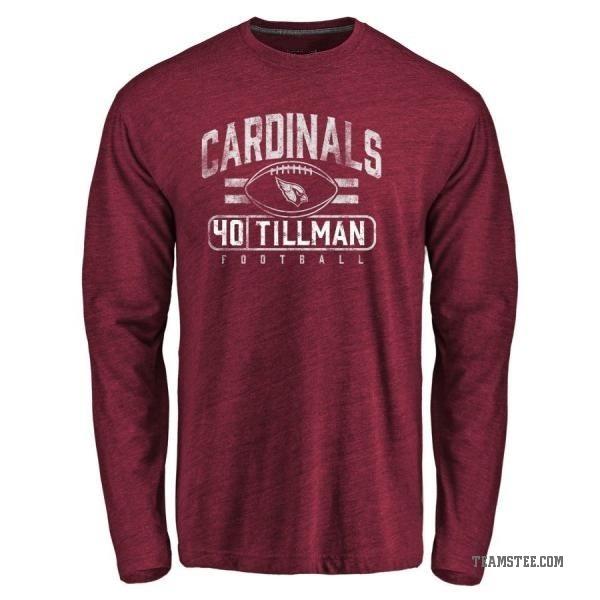 217d2893 Men's Pat Tillman Arizona Cardinals Flanker Tri-Blend Long Sleeve T-Shirt -  Garnet - Teams Tee