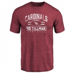 Men's Pat Tillman Arizona Cardinals Flanker Tri-Blend T-Shirt - Maroon