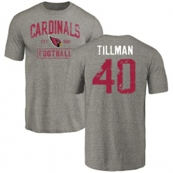 Men's Pat Tillman Arizona Cardinals Gray Distressed Name & Number Tri-Blend T-Shirt
