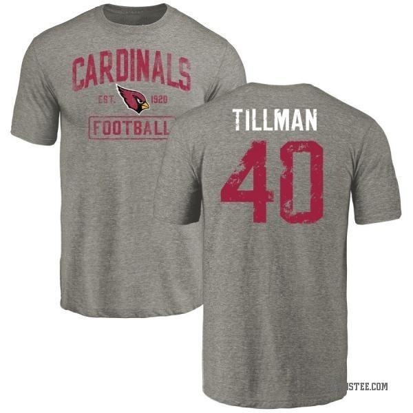 Nice Men's Pat Tillman Arizona Cardinals Gray Distressed Name & Number