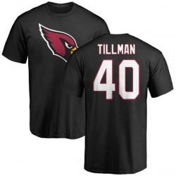 Men's Pat Tillman Arizona Cardinals Name & Number Logo T-Shirt - Black