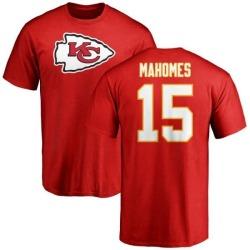Men's Patrick Mahomes Kansas City Chiefs Name & Number Logo T-Shirt - Red