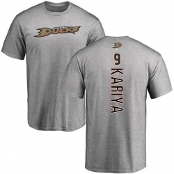 Men's Paul Kariya Anaheim Ducks Backer T-Shirt - Ash