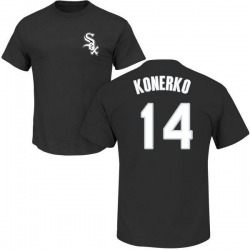 Men's Paul Konerko Chicago White Sox Roster Name & Number T-Shirt - Black