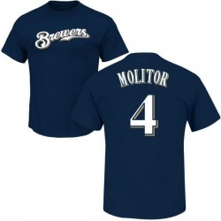 Men's Paul Molitor Milwaukee Brewers Roster Name & Number T-Shirt - Navy