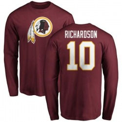 Men's Paul Richardson Washington Redskins Name & Number Logo Long Sleeve T-Shirt - Maroon