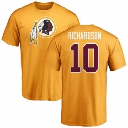 Men's Paul Richardson Washington Redskins Name & Number Logo T-Shirt - Gold