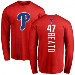 Men's Pedro Beato Philadelphia Phillies Backer Long Sleeve T-Shirt - Red