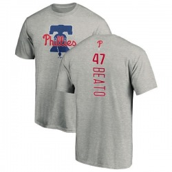 Men's Pedro Beato Philadelphia Phillies Backer T-Shirt - Ash