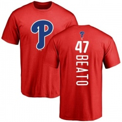 Men's Pedro Beato Philadelphia Phillies Backer T-Shirt - Red