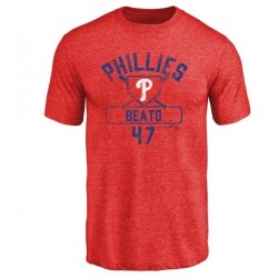 Men's Pedro Beato Philadelphia Phillies Base Runner Tri-Blend T-Shirt - Red