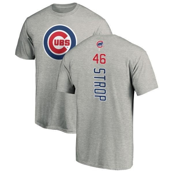 timeless design c4843 bcad8 Men's Pedro Strop Chicago Cubs Backer T-Shirt - Ash - Teams Tee