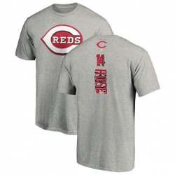 Men's Pete Rose Cincinnati Reds Backer T-Shirt - Ash