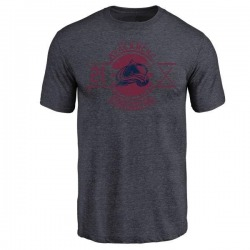 Men's Peter Forsberg Colorado Avalanche Insignia Tri-Blend T-Shirt - Navy