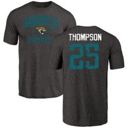 Men's Peyton Thompson Jacksonville Jaguars Black Distressed Name & Number Tri-Blend T-Shirt