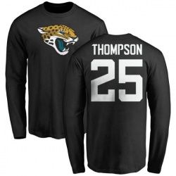 Men's Peyton Thompson Jacksonville Jaguars Name & Number Logo Long Sleeve T-Shirt - Black