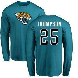 Men's Peyton Thompson Jacksonville Jaguars Name & Number Logo Long Sleeve T-Shirt - Teal